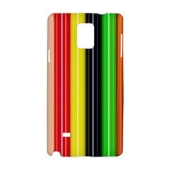 Stripes Colorful Striped Background Wallpaper Pattern Samsung Galaxy Note 4 Hardshell Case by Simbadda