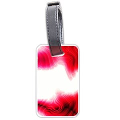 Abstract Pink Page Border Luggage Tags (one Side)  by Simbadda