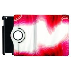 Abstract Pink Page Border Apple Ipad 2 Flip 360 Case by Simbadda