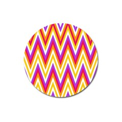Colorful Chevrons Zigzag Pattern Seamless Magnet 3  (round) by Simbadda