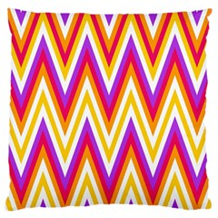 Colorful Chevrons Zigzag Pattern Seamless Large Cushion Case (two Sides) by Simbadda