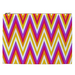 Colorful Chevrons Zigzag Pattern Seamless Cosmetic Bag (xxl)  by Simbadda