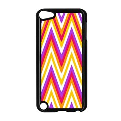 Colorful Chevrons Zigzag Pattern Seamless Apple Ipod Touch 5 Case (black) by Simbadda