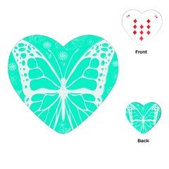 Butterfly Cut Out Flowers Playing Cards (heart)  by Simbadda