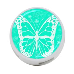 Butterfly Cut Out Flowers 4 Port Usb Hub (two Sides)  by Simbadda