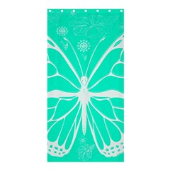 Butterfly Cut Out Flowers Shower Curtain 36  X 72  (stall)  by Simbadda