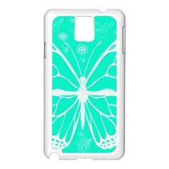 Butterfly Cut Out Flowers Samsung Galaxy Note 3 N9005 Case (white) by Simbadda