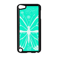 Butterfly Cut Out Flowers Apple Ipod Touch 5 Case (black) by Simbadda