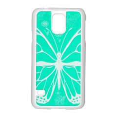 Butterfly Cut Out Flowers Samsung Galaxy S5 Case (white) by Simbadda