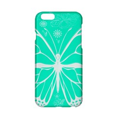 Butterfly Cut Out Flowers Apple Iphone 6/6s Hardshell Case by Simbadda