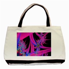Fractal In Bright Pink And Blue Basic Tote Bag (two Sides) by Simbadda
