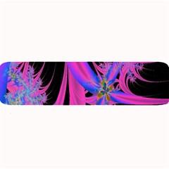 Fractal In Bright Pink And Blue Large Bar Mats by Simbadda