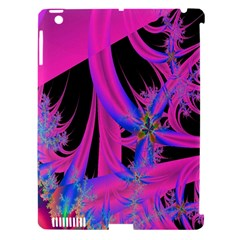 Fractal In Bright Pink And Blue Apple Ipad 3/4 Hardshell Case (compatible With Smart Cover) by Simbadda