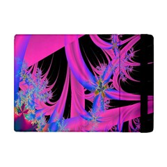 Fractal In Bright Pink And Blue Apple Ipad Mini Flip Case by Simbadda