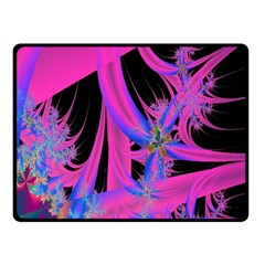 Fractal In Bright Pink And Blue Double Sided Fleece Blanket (small)  by Simbadda