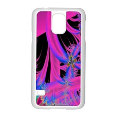 Fractal In Bright Pink And Blue Samsung Galaxy S5 Case (white) by Simbadda