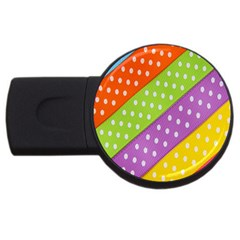Colorful Easter Ribbon Background Usb Flash Drive Round (2 Gb) by Simbadda