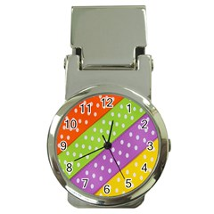 Colorful Easter Ribbon Background Money Clip Watches by Simbadda