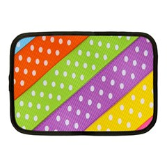 Colorful Easter Ribbon Background Netbook Case (medium)  by Simbadda