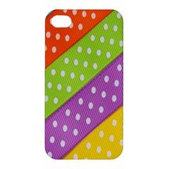 Colorful Easter Ribbon Background Apple Iphone 4/4s Premium Hardshell Case by Simbadda