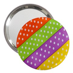 Colorful Easter Ribbon Background 3  Handbag Mirrors by Simbadda