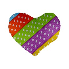 Colorful Easter Ribbon Background Standard 16  Premium Heart Shape Cushions by Simbadda