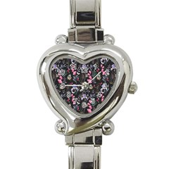 Wildflowers I Heart Italian Charm Watch by tarastyle