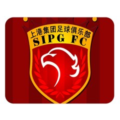 Shanghai SIPG F.C. Double Sided Flano Blanket (Large)  by Valentinaart