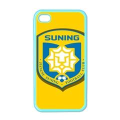 Jiangsu Suning F C  Apple Iphone 4 Case (color) by Valentinaart