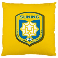 Jiangsu Suning F C  Large Flano Cushion Case (two Sides) by Valentinaart