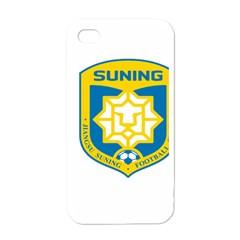 Jiangsu Suning F C  Apple Iphone 4 Case (white) by Valentinaart