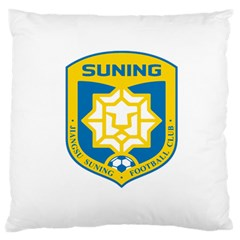 Jiangsu Suning F.C. Standard Flano Cushion Case (Two Sides) by Valentinaart