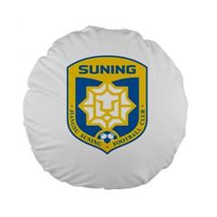 Jiangsu Suning F C  Standard 15  Premium Flano Round Cushions by Valentinaart