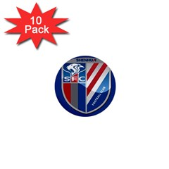 Shanghai Greenland Shenhua F C  1  Mini Buttons (10 Pack)  by Valentinaart