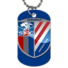 Shanghai Greenland Shenhua F C  Dog Tag (two Sides) by Valentinaart