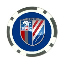 Shanghai Greenland Shenhua F C  Poker Chip Card Guard by Valentinaart