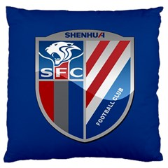 Shanghai Greenland Shenhua F C  Large Flano Cushion Case (one Side) by Valentinaart