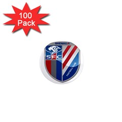 Shanghai Greenland Shenhua F C  1  Mini Magnets (100 Pack)  by Valentinaart