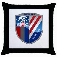 Shanghai Greenland Shenhua F C  Throw Pillow Case (black) by Valentinaart