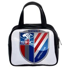 Shanghai Greenland Shenhua F C  Classic Handbags (2 Sides) by Valentinaart