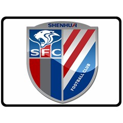 Shanghai Greenland Shenhua F C  Double Sided Fleece Blanket (large)  by Valentinaart