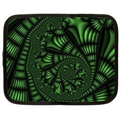 Fractal Drawing Green Spirals Netbook Case (large) by Simbadda