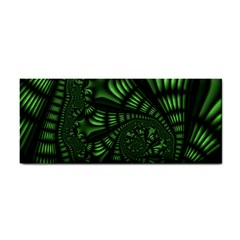 Fractal Drawing Green Spirals Cosmetic Storage Cases by Simbadda