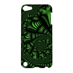 Fractal Drawing Green Spirals Apple Ipod Touch 5 Hardshell Case by Simbadda