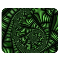 Fractal Drawing Green Spirals Double Sided Flano Blanket (medium)  by Simbadda