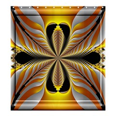 Fractal Yellow Butterfly In 3d Glass Frame Shower Curtain 66  X 72  (large)  by Simbadda