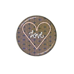 I Love You Love Background Hat Clip Ball Marker (4 pack) by Simbadda