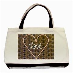 I Love You Love Background Basic Tote Bag by Simbadda