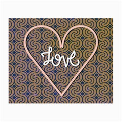 I Love You Love Background Small Glasses Cloth (2 Side) by Simbadda