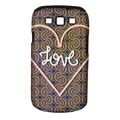 I Love You Love Background Samsung Galaxy S Iii Classic Hardshell Case (pc+silicone) by Simbadda